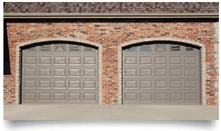 Garage door in the fort of wood effect technical